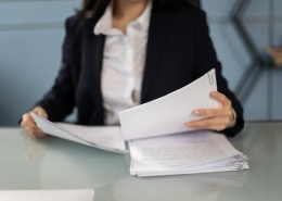 woman with documents